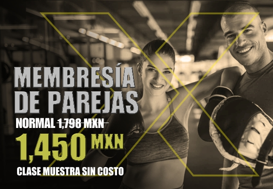 Membresia de parejas para clases box en cancun