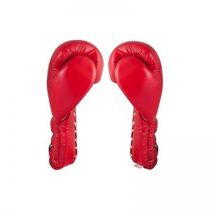 Guantes de entrenamiento con agujeta color rojo