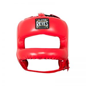 Protector de cabeza con barra de nylon en U color rojo