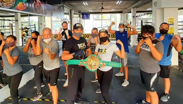 Entrenando box con Rodolfo Rudy López