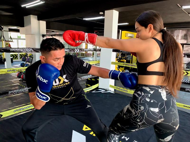 Instalaciones de la academia de box en cancún