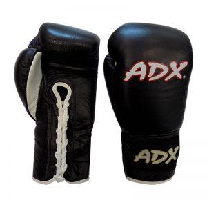 Guantes Profesionales para boxeo 8 y 10 onzas (PIEL) Negro