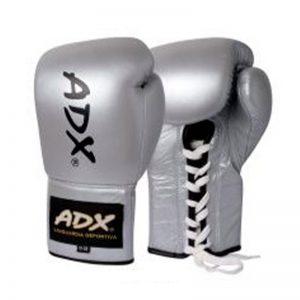 Guantes Profesionales para boxeo 8 y 10 onzas (PIEL) Plata