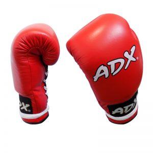 Guantes Profesionales para boxeo 8 y 10 onzas (PIEL) Rojo